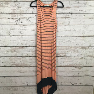 Olive and Oak Peach Striped Maxi Dress